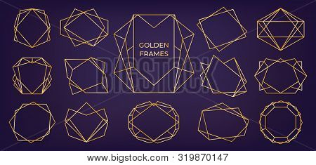 golden geometric vector photo free