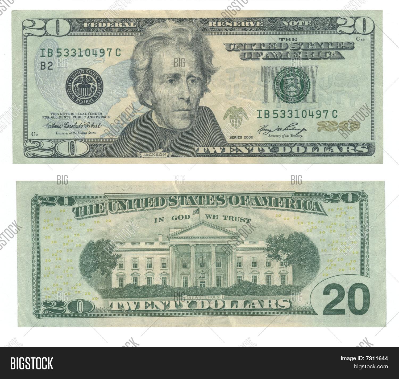 Back Front Twenty Dollar Bill Image Amp Photo