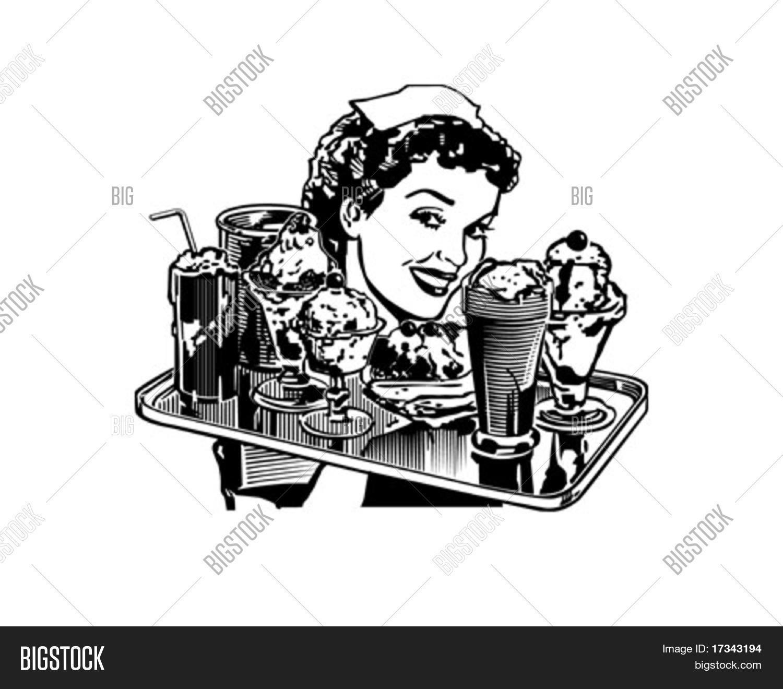 Retro Diner Waitress