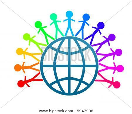 Stock photo : Colorful World Peace Clip Art
