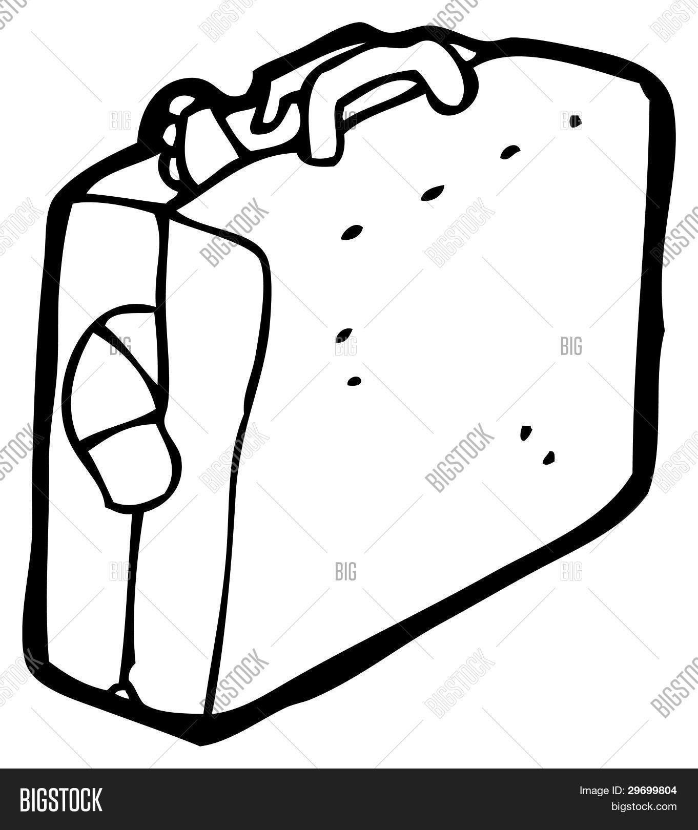 Full Luggage Suitcase Cartoon Raster Version Stock Photo