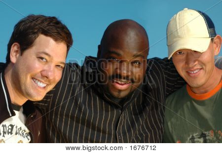 Stock photo : Three Young College Students
