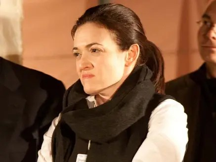 Sheryl Sandberg looking Badass