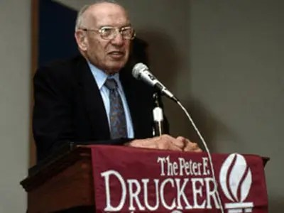 Peter Drucker, author and management consultant