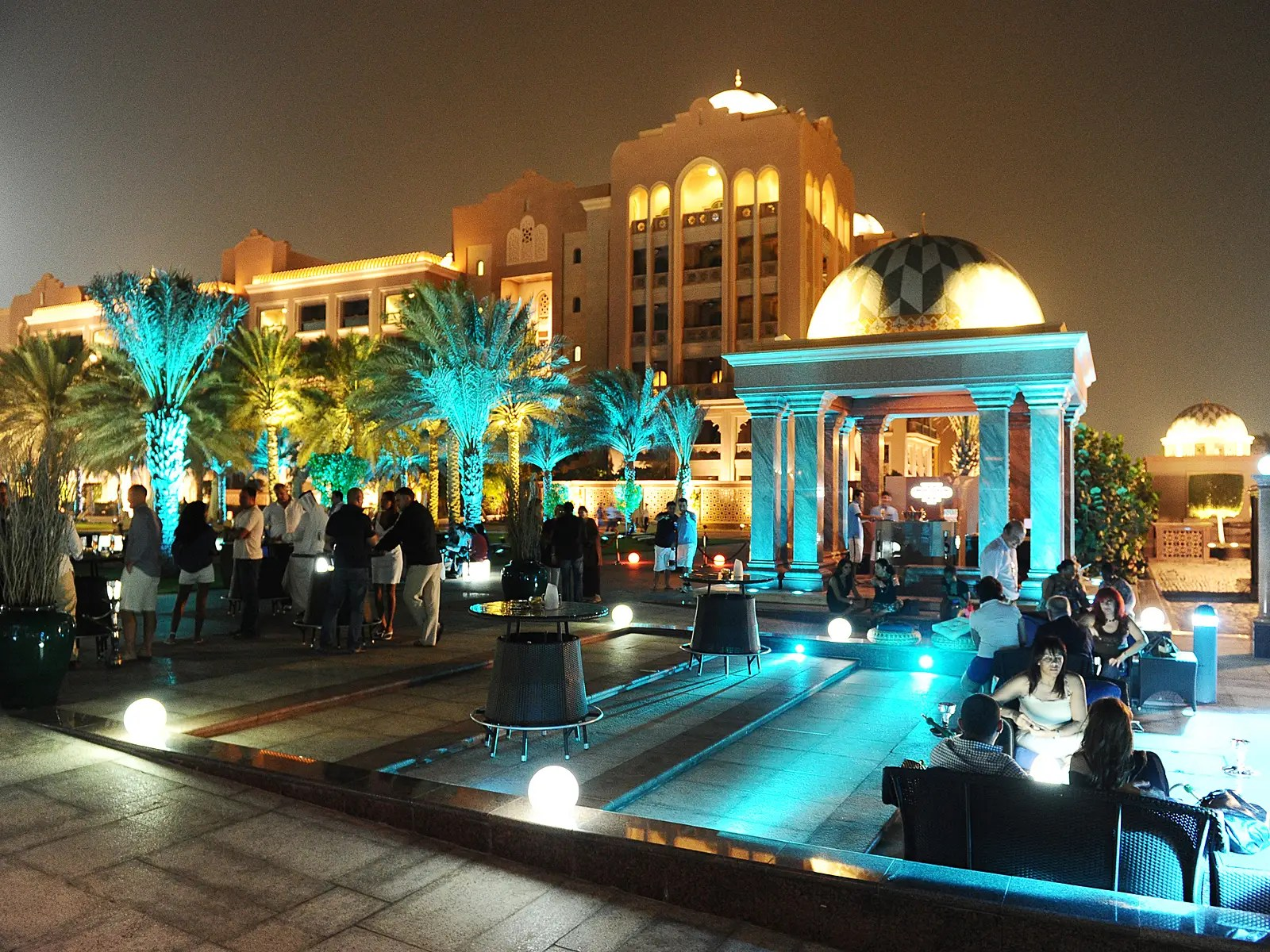 For a little taste of nightlife, Breeze Lounge is set between the pool and private beach, and has gorgeous views of the Emirates Palace marina.