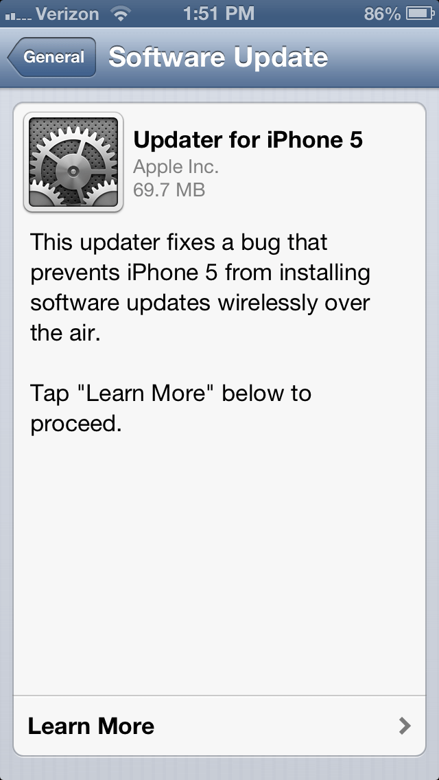 Check for software updates, and update your phone if necessary.