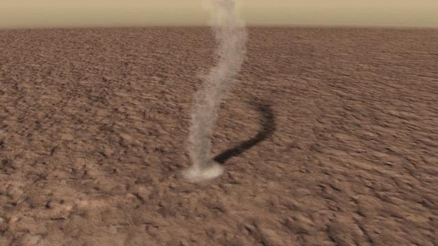 martian dust devil animation
