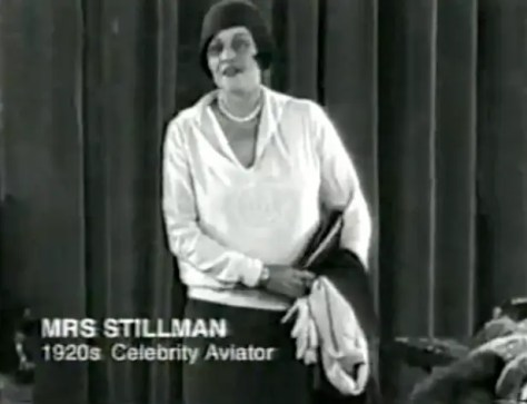 """I wonder why you all want to dress always the same, with the same hats and the same coats,"" said celebrity aviator Mrs Stillman in one promotional video. ""I'm sure all of you are interesting and have wonderful things about you, but looking at you in the street you all look so much the same. And that's why I'm talking to you about the psychology of dress."""
