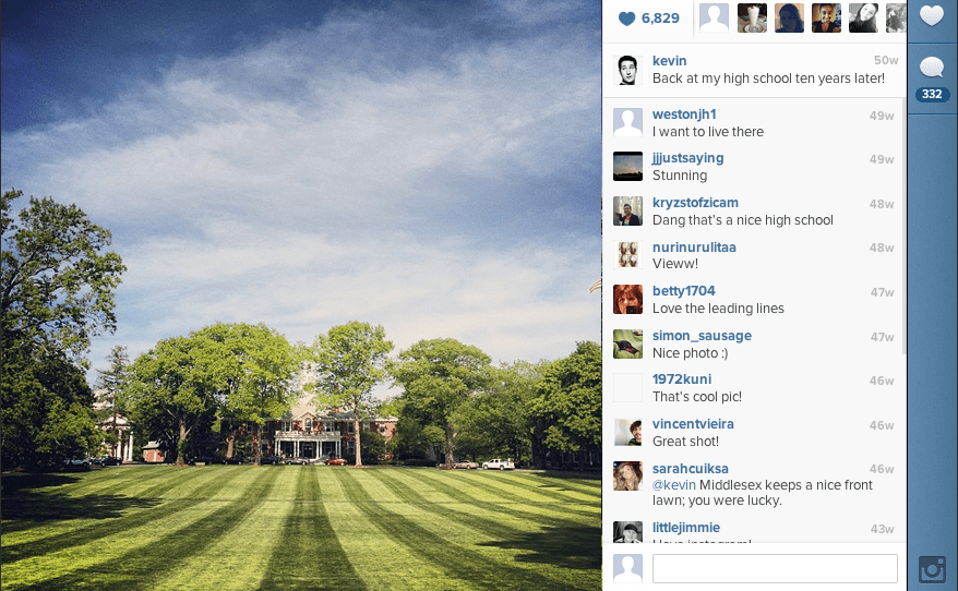 Systrom stopped by his old high school, Middlesex boarding school, a few days later.