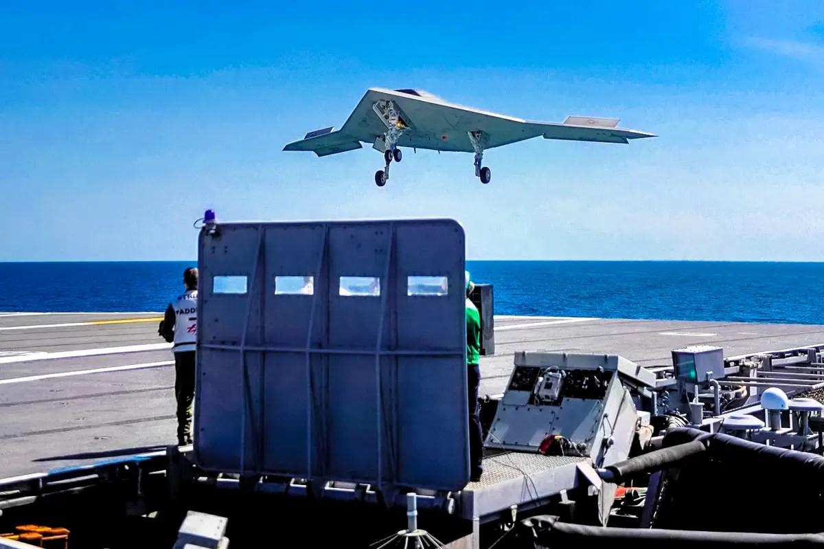 Crew: None — Length: 38.2 ft — Wingspan: 62.1 ft — Height: 10.4 ft — Empty weight: 14,000 lb — Max. takeoff weight: 44,567 lb —Powerplant: 1 × Pratt & Whitney F100-220U turbofan.