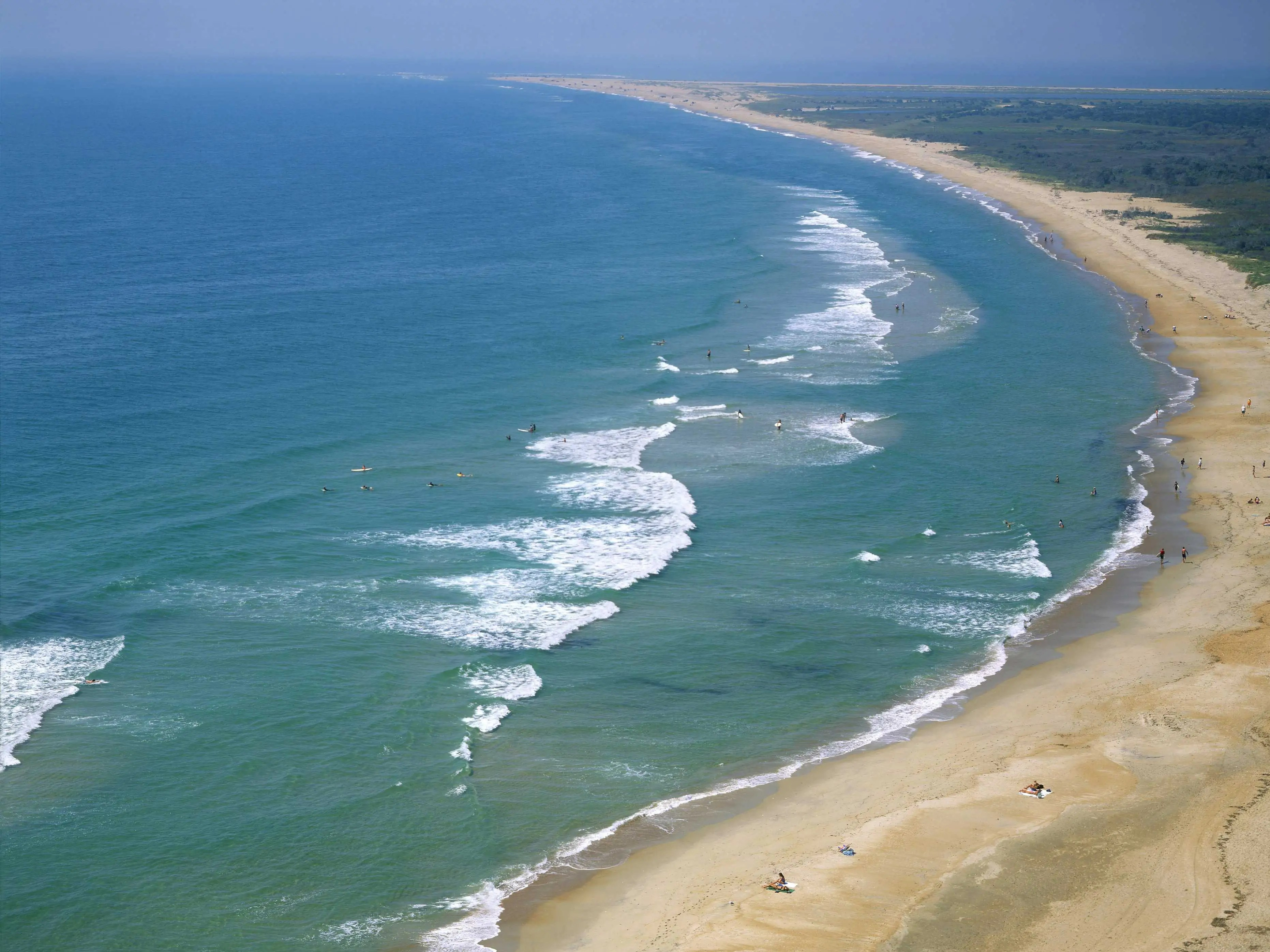 Protected as National Seashore, Cape Hatteras consists of miles of undeveloped shoreline along the Outer Banks of North Carolina. Once the stomping grounds of pirates, it's now popular among surfers, birdwatchers, and anyone looking for an easygoing place to relax.