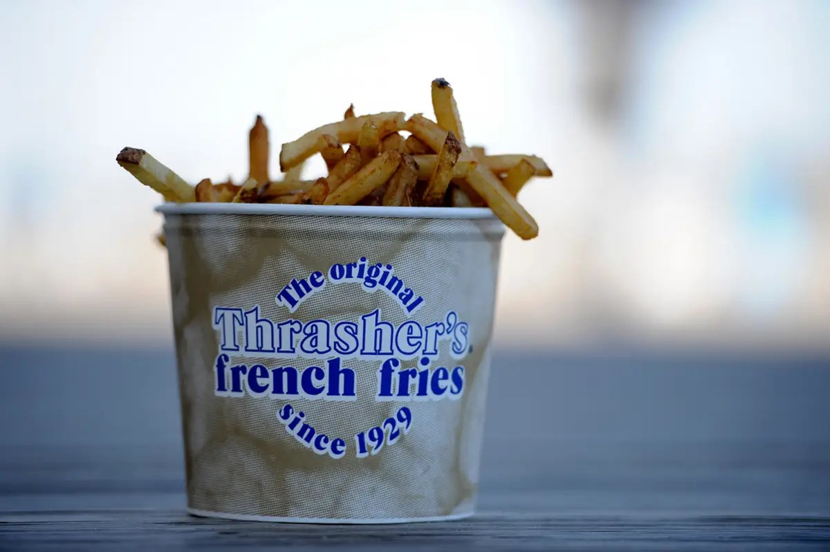 DELAWARE: Munch on the original Thrasher's french fries as you walk along the beach in Rehoboth.