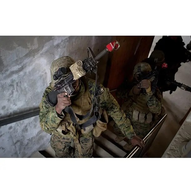 Urban operations are also an emphasis of Marine light infantry.