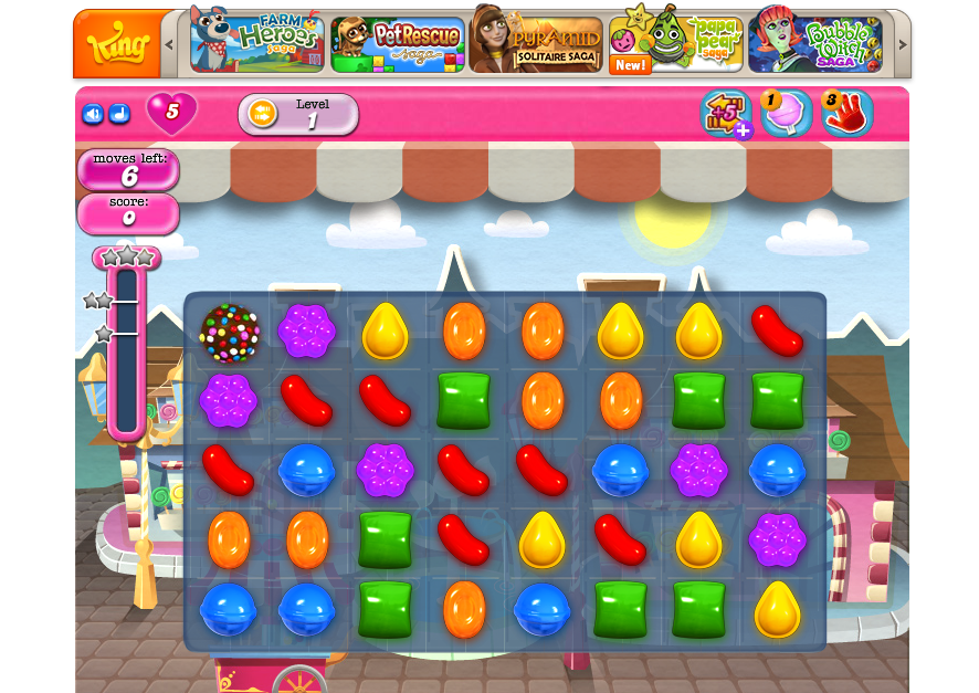 Candy Crush Saga to make the commute more fun