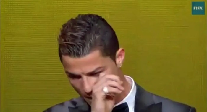 He's also rehabilitating his image with some human moments, like the time he cried after winning the Ballon d'Or.
