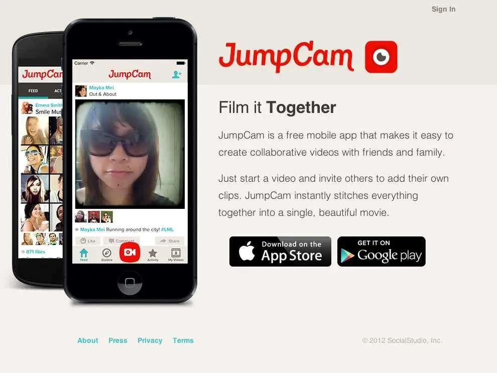 Jumpcam recruits friends to make collaborative films.