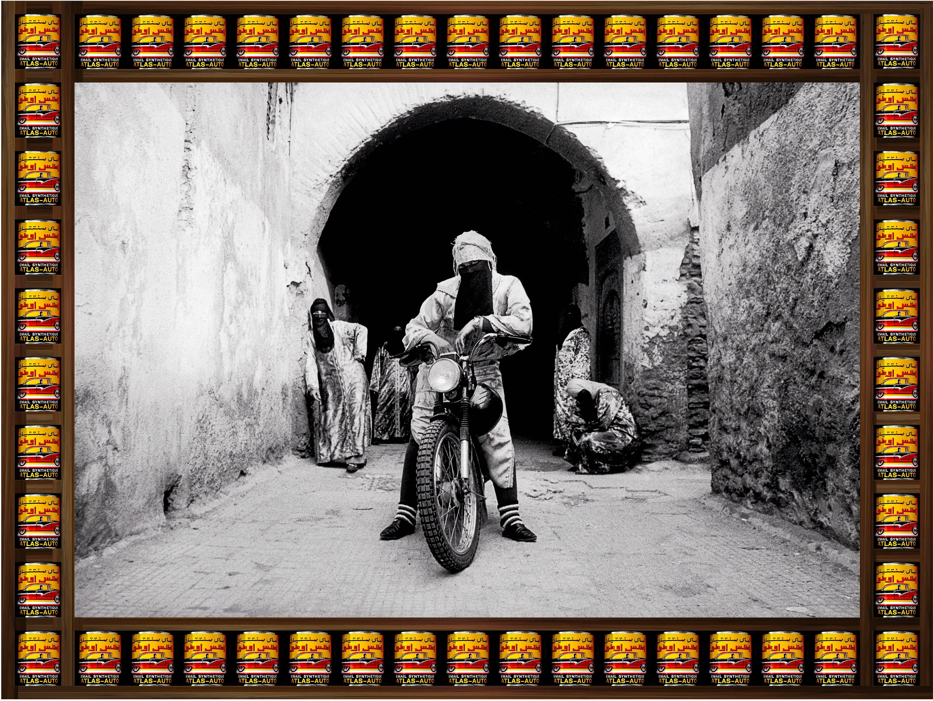 """Hajjaj took inspiration from pop culture, such as the movie """"Easy Rider,"""" MTV, hip-hop, and fashion for the project."""