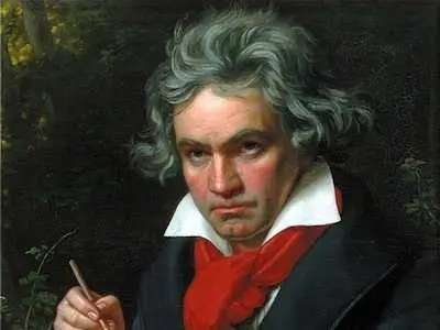 Ludwig van Beethoven developed his ideas in the bathroom.