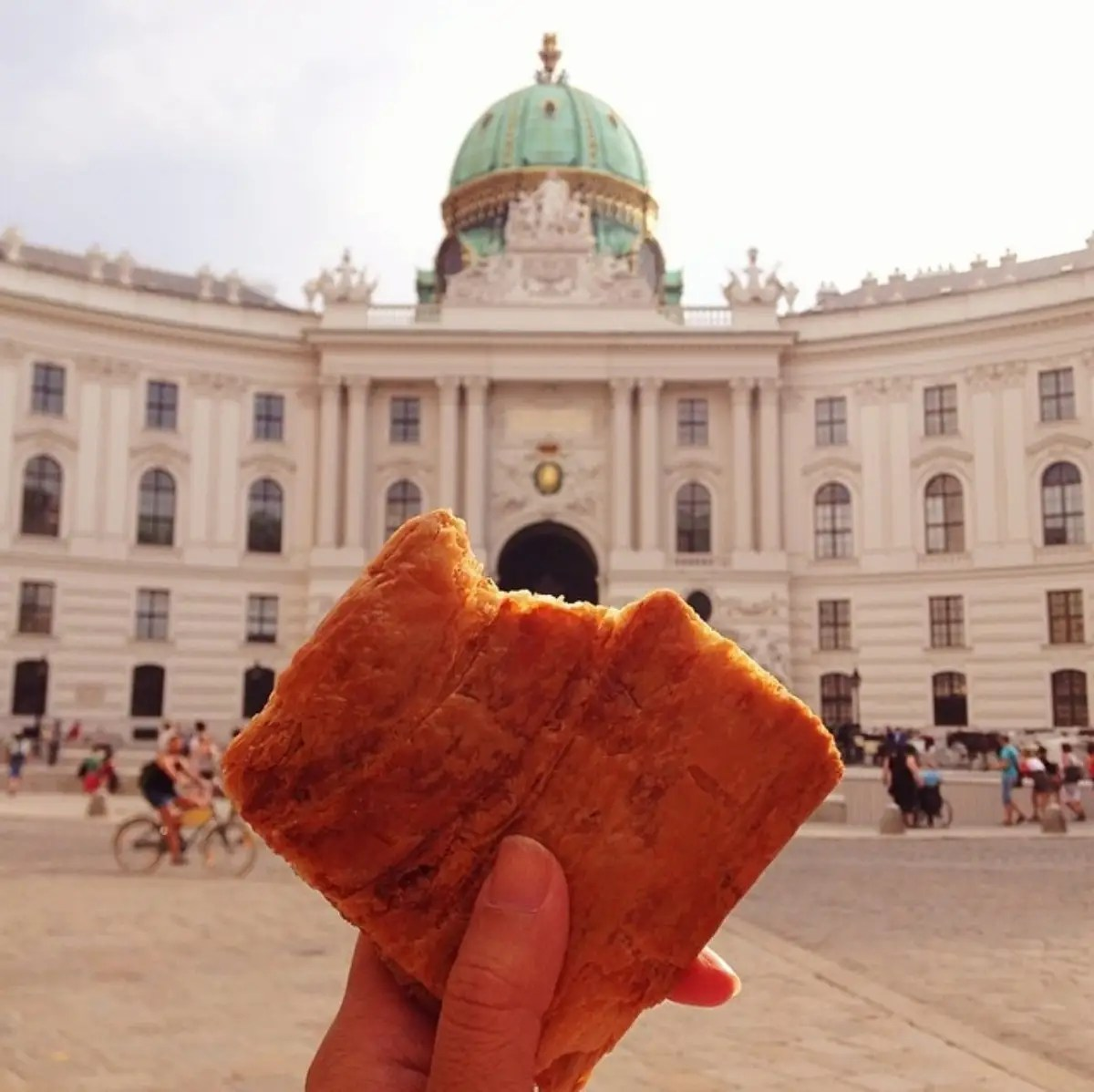 An apfelstrudel in Vienna.