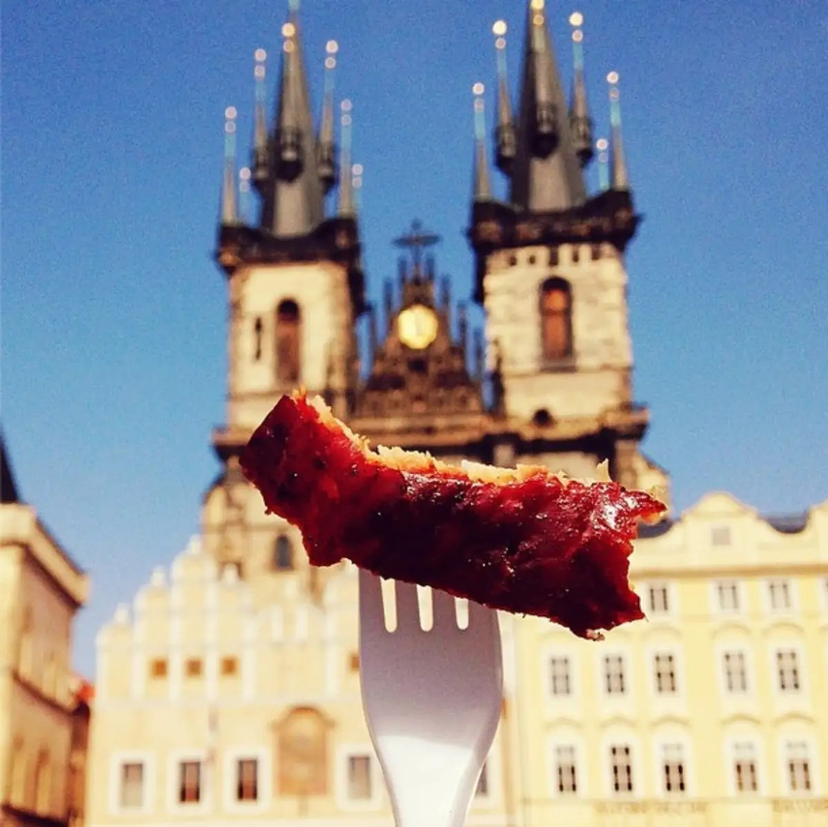 Prosciutto di Prague at Old Town Square in Prague, which was actually a tourist trap. I just couldn't say no to ham.