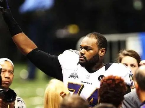 "Michael Oher's story of homelessness and struggle in ""The Blind Side"" was inspirational to the world."