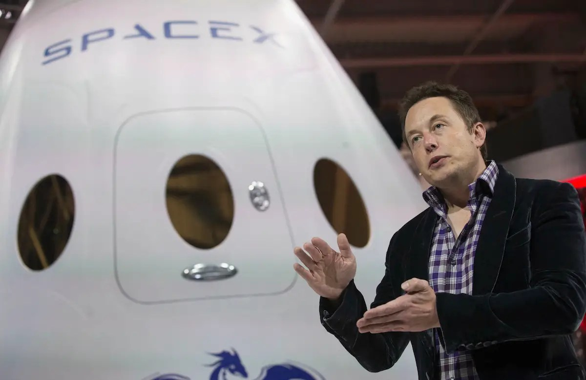 So in early 2002, Musk founded the company that would be known as Space Exploration Technologies, or SpaceX. Musk's goal is to build processes that would make spaceflight cheaper by a factor of ten.