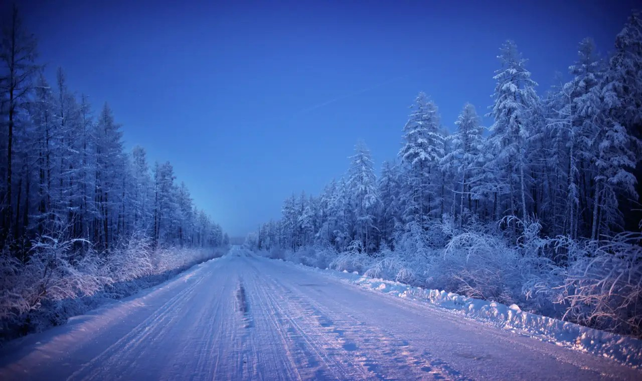 Yakutsk is the gateway to Oymyakon, widely regarded as the coldest inhabited town on the planet. It takes two days to get there, traveling down a barren and isolated stretch of road. Chapple first had to hitch a ride to a halfway point on the road, where he was stranded for two days.