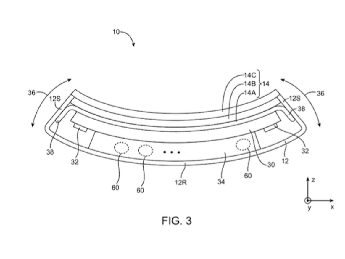 Apple Bendable Flexible Iphone Patent