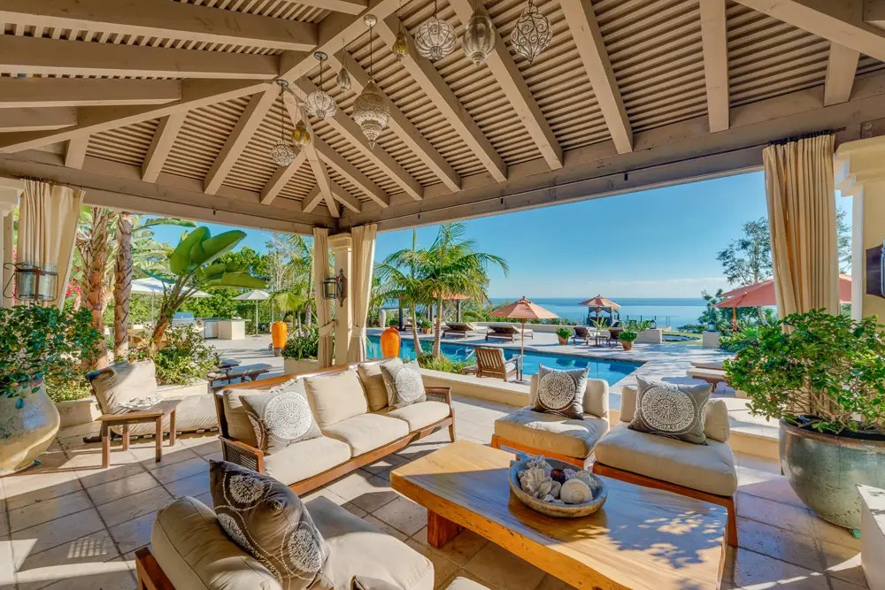 Outside, the home has roughly 67,500 square feet of outdoor living space.