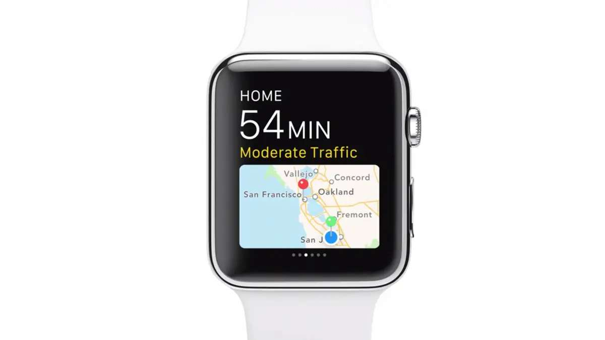 Maps work on Apple Watch too.