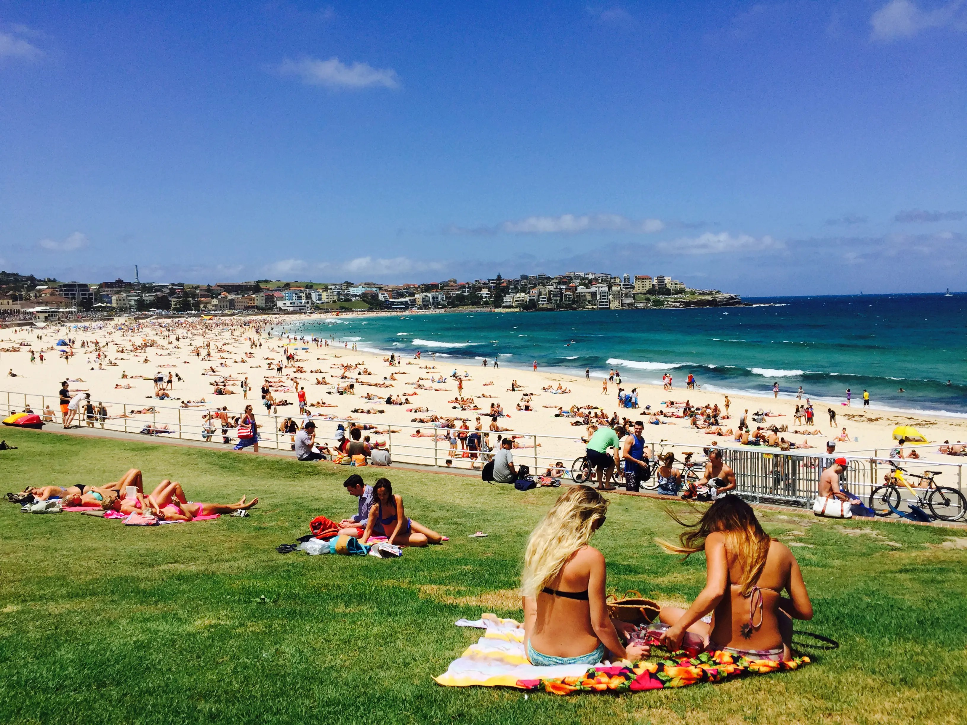 This photo was taken towards the end of spring in Sydney, Australia, when the people of the city head out to the beach.