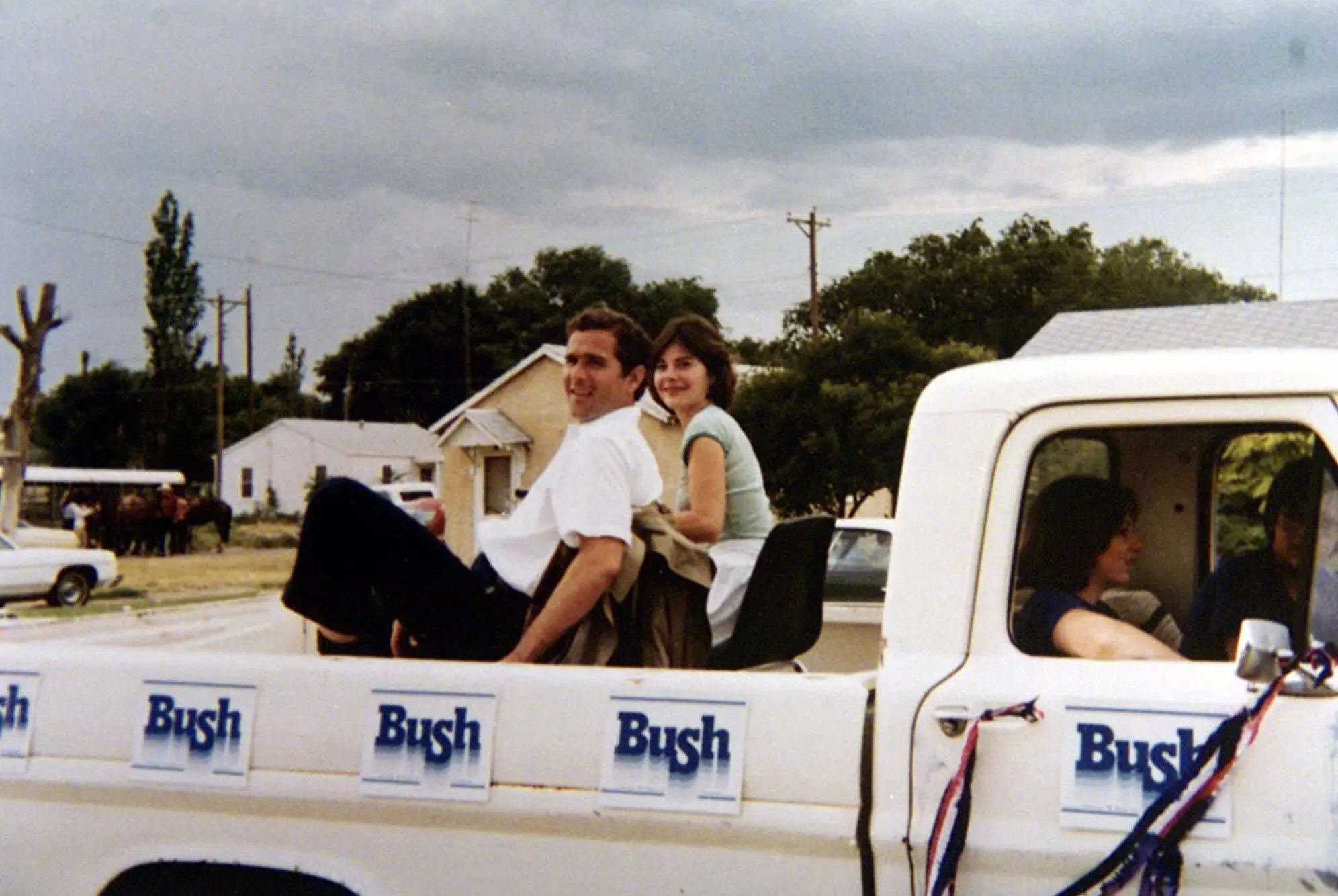 """While traveling the country on behalf of his father's presidential campaign, Bush sparked an interest in the """"other family business."""" Karl Rove convinced him to run for Texas governor, and he captured 53% of the vote. W. announced his intent to run for president during his second term."""
