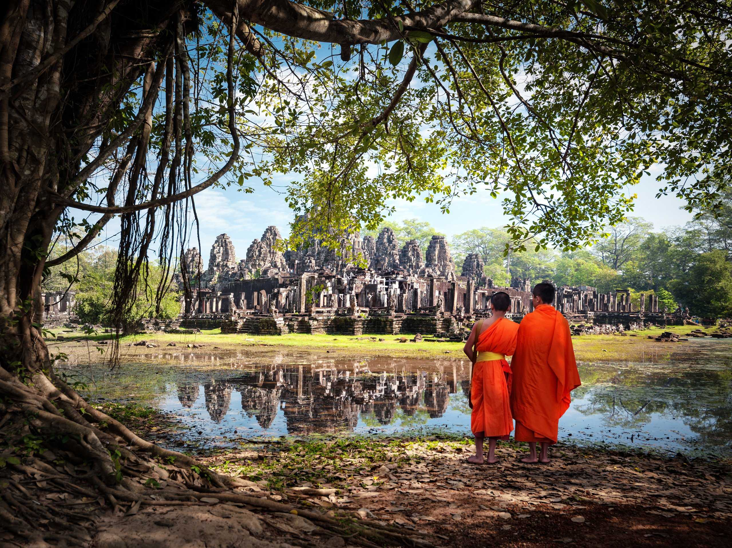 Backpack through Southeast Asia. Some popular stops include Chiang Mai in Thailand, Angkor Wat in Cambodia (pictured below), Laos, Hanoi in Vietnam, and Bali and Ubud in Indonesia.