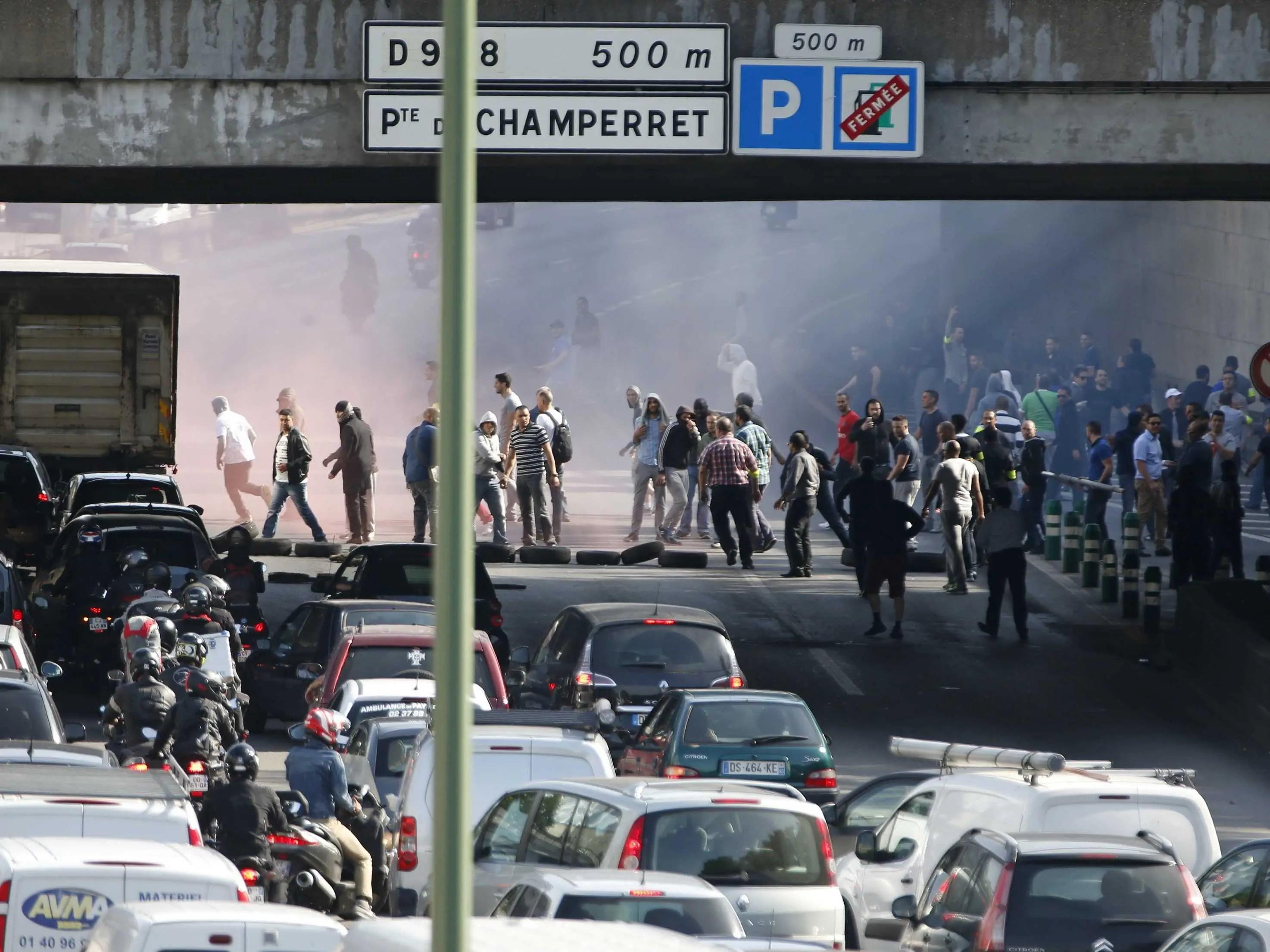 paris uber protest