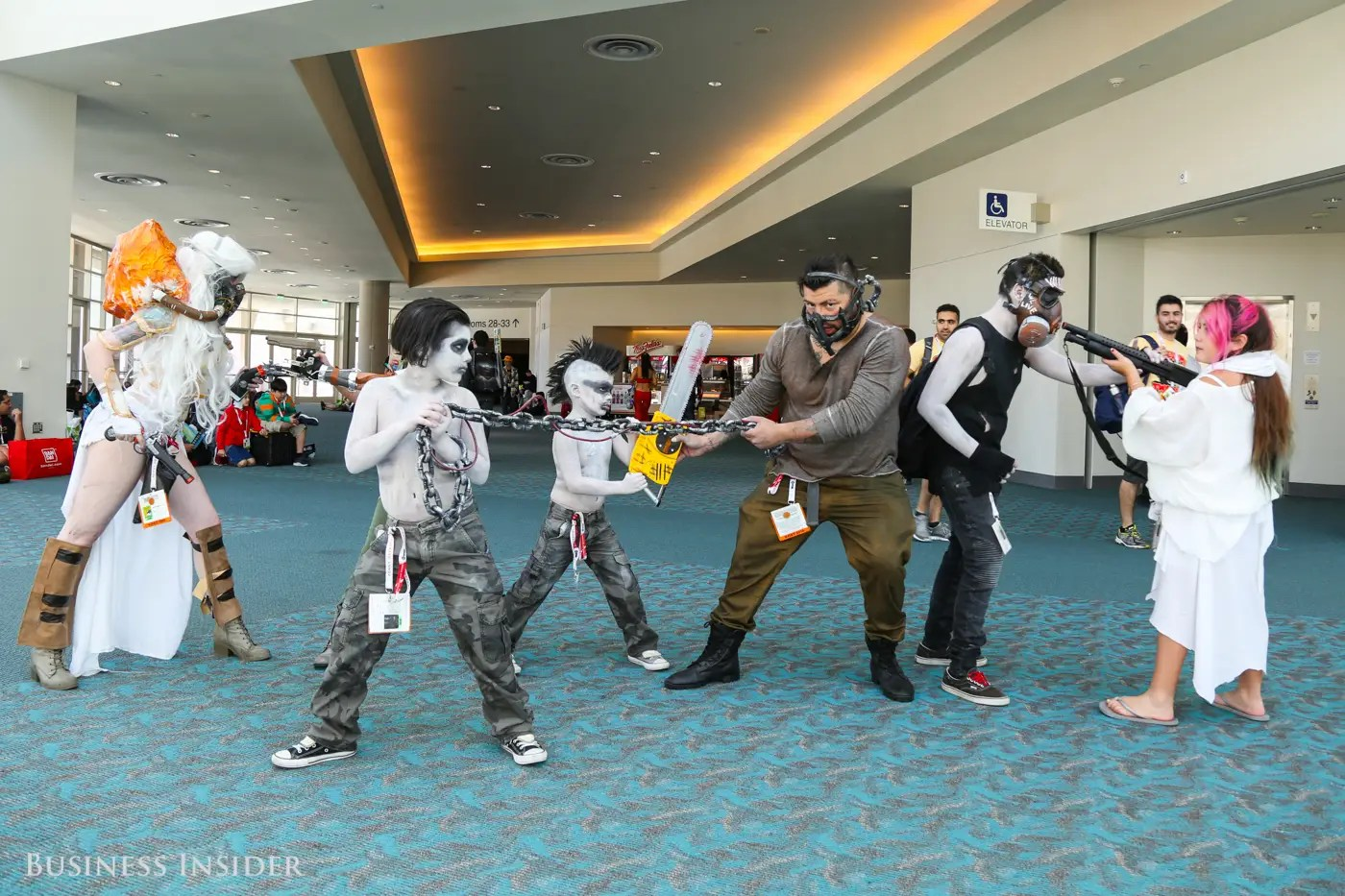 The family that cosplays together, stays together. How cute are these War Boys?