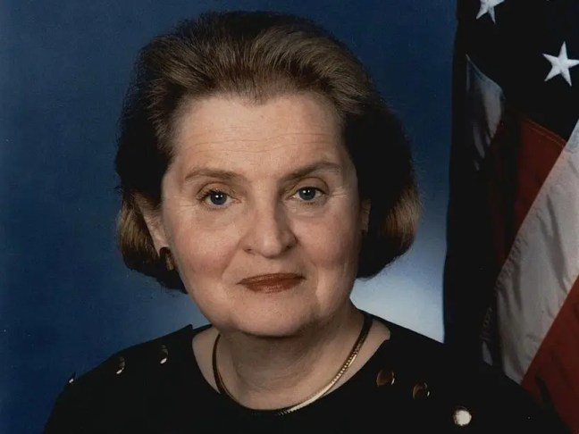 Madeline Albright was raising a family while beginning her political career