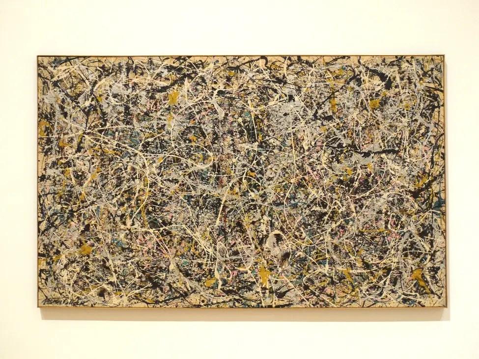 Le «Numéro 1, 1949» de Jackson Pollock à MOCA à Los Angeles.