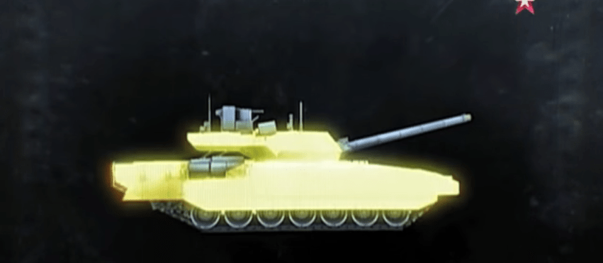 The Armata is almost entirely covered in thick armor plates.