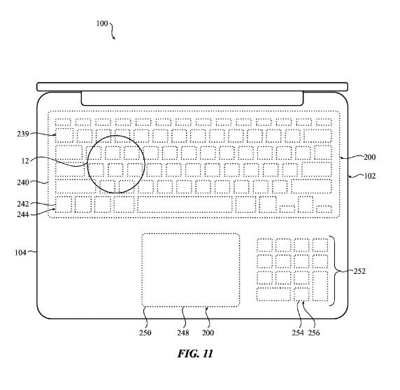 And number crunchers might be able to have a number pad on the laptop's palm rest.