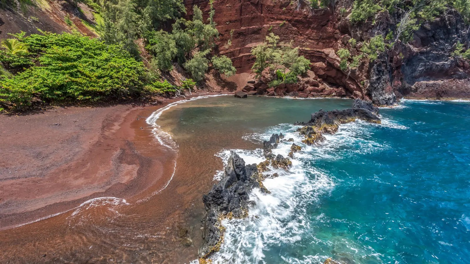 Red Sand Beach, Maui, Hawaii, USA.