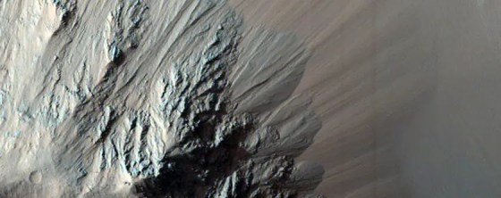 Eos Chasma is part of Valles Marineris, the largest canyon on Mars.