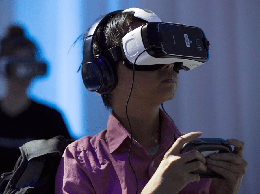 It has a full library of virtual-reality content, thanks to Samsung's partnership with Oculus.