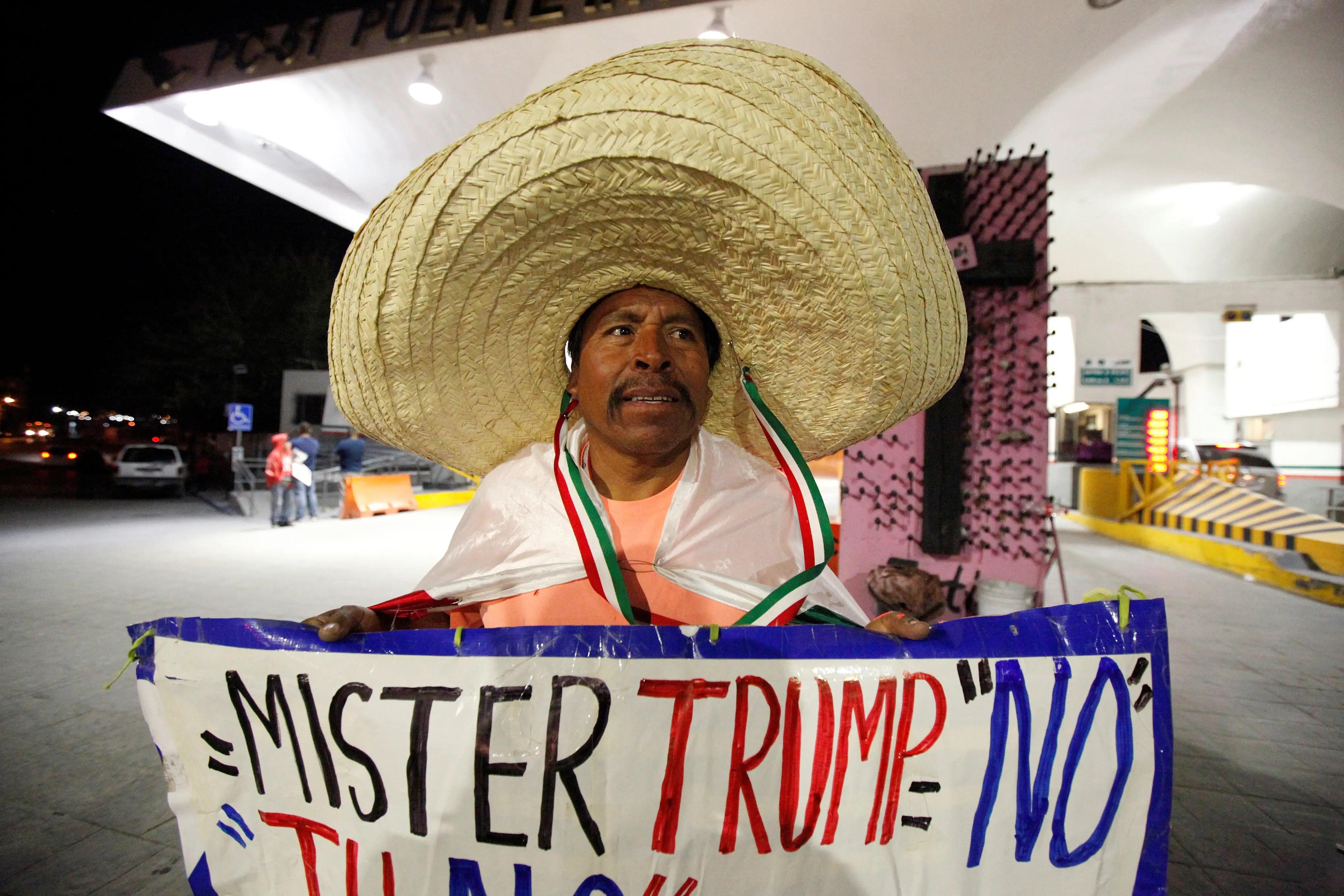 Mexico Donald Trump protest Ciudad Juarez