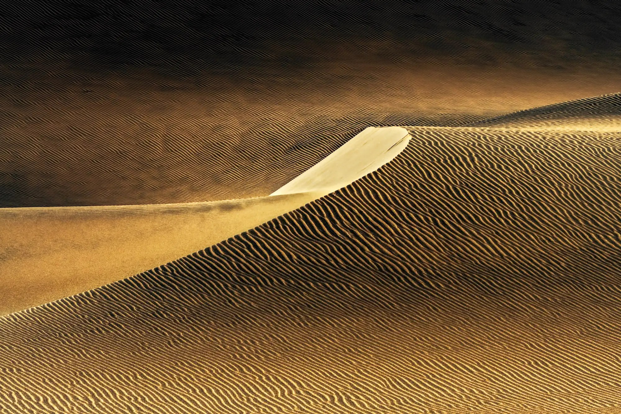 Another other shot from Namibia from Poppe's third-place winning body of work looks like a dream of a desert.