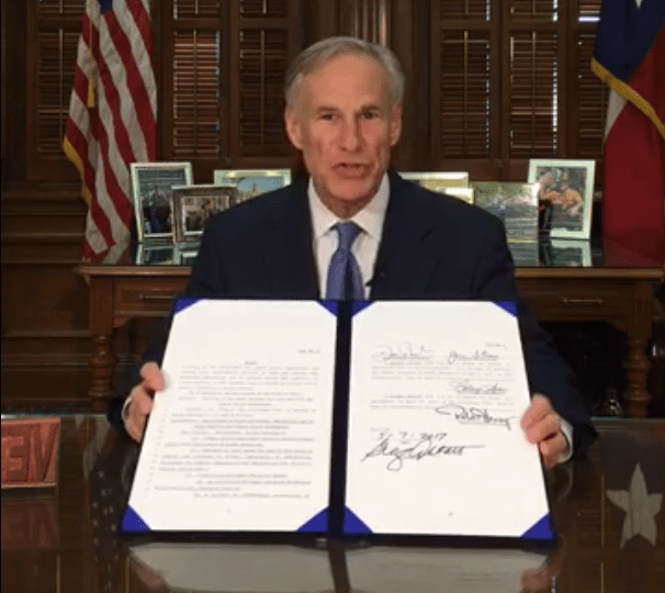 Greg Abbott facebook live