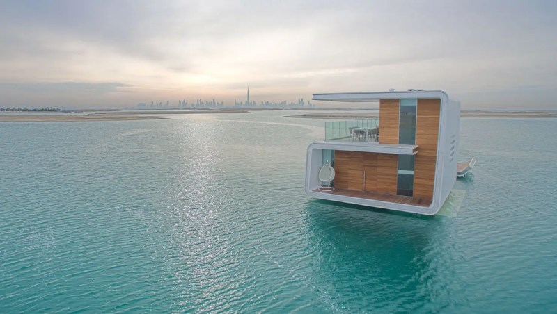 Since the structures are located about two and a half miles from Dubai's shores, inhabitants can reach their Seahorse via boat or seaplane.
