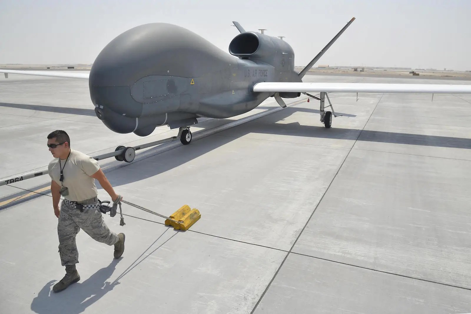US Air Force RQ-4 Global Hawk unmanned aircraft drone