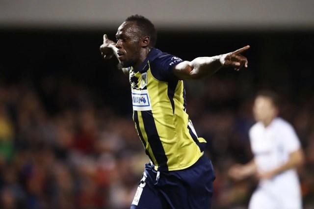 Watch Usain Bolt score goals