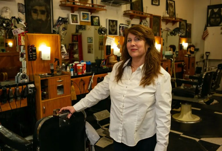 Holly Upton is the owner of the Head Husky barbershop in Storrs, Connecticut.