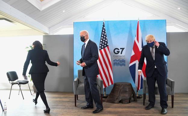 US President Joe Biden and British Prime Minister Boris Johnson.